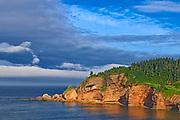 Bonaventure Island in the Atlantic Ocean at the end of the Gaspe Peninsula. Parc national de l'Île-Bonaventure-et-du-Rocher-Percé. This is a provincial parc, not a true federal park.<br /><br />Quebec<br />Canada