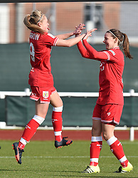 Millie Farrow of Bristol City Women celebrates her opening goal against QPR Ladies - Mandatory by-line: Paul Knight/JMP - Mobile: 07966 386802 - 14/02/2016 -  FOOTBALL - Stoke Gifford Stadium - Bristol, England -  Bristol Academy Women v QPR Ladies - FA Cup third round
