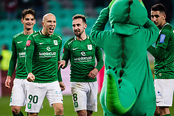 Tomislav Tomic of NK Olimpija and Endri Cekici of NK Olimpija during the football match between NK Olimpija Ljubljana and NS Mura in 25. Round of Prva liga Telekom Slovenije 2019/20, on March 8, 2020 in Stadion Stozice, Ljubljana, Slovenia. Photo by Grega Valancic / Sportida