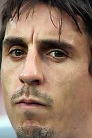 Photo: Chris Ratcliffe.<br /> Sweden v England. FIFA World Cup 2006. 20/06/2006.<br /> Gary Neville of England.