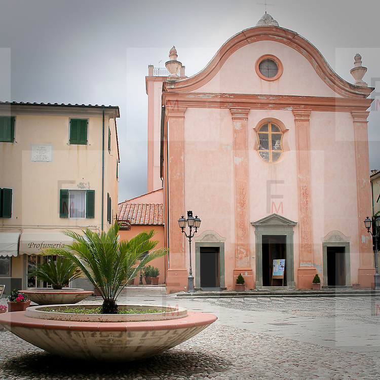 La chiesa principale di Marciana Marina...The main church of Marciana Marina