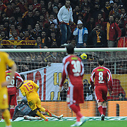 Galatasaray's Milan Baros goal during their Turkish Superleague soccer match Galatasaray between Sivasspor at the Turk Telekom Arena at Aslantepe in Istanbul Turkey on Saturday 26 November 2011. Photo by TURKPIX