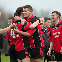 Meelick celebrate at the final whistle