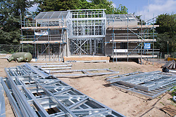 Construction work for a new EcoHouse at University of Nottingham,