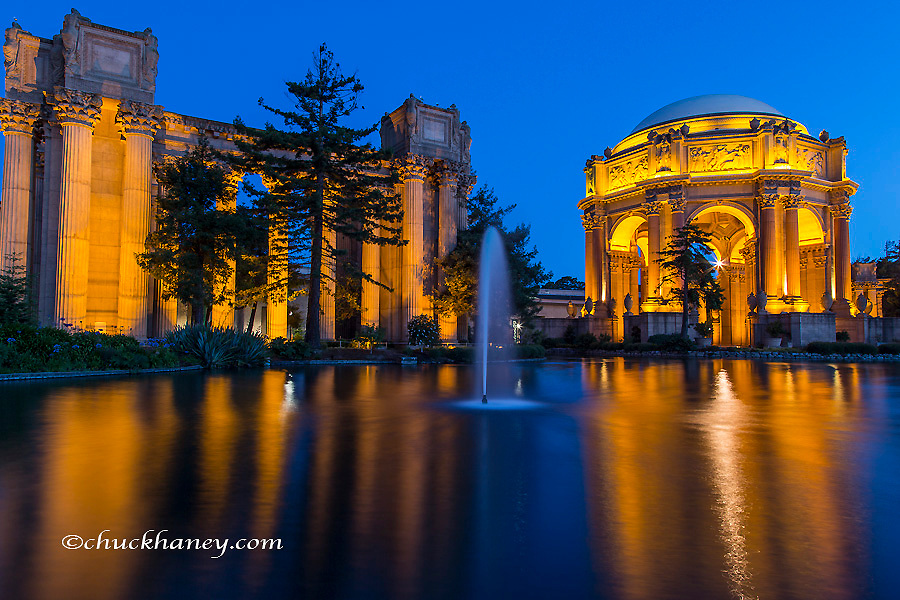 The Palace of Fine Arts at dawn in San Francisco, California, USA