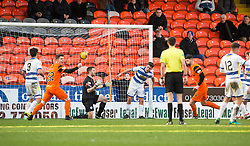 Dundee United's Mark Durnan (4) after scoring their goal. Dundee United 1 v 1 Morton, Scottish Championship game played 25/2/2017 at Tannadice Park.