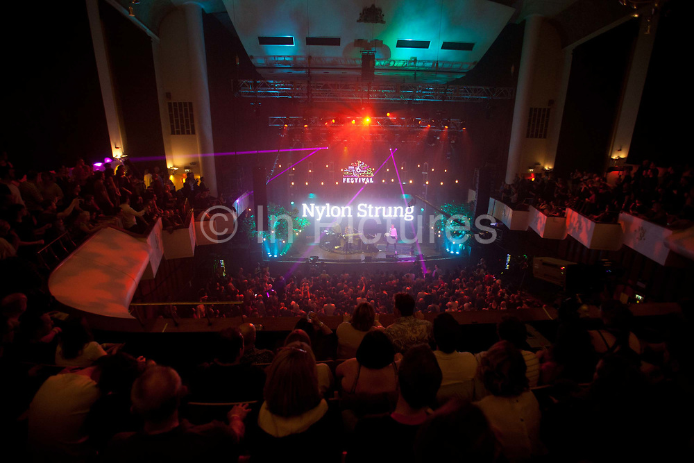 Underworld playing in Colston Hall, Bristol. In 2016, the annual BBC 6 music festival was held in Bristol, UK. Spread across several venues, the festival is a celebration of music and is held in a different location in the UK each year.