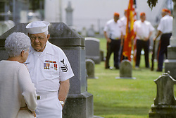 Americana Naval world war II veteran Memorial Day celebration Stock photo