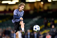 Luka Modric of Real Madrid during the training session ahead the UEFA Champions League Final between Real Madrid and Juventus at the National Stadium of Wales, Cardiff, Wales on 2 June 2017. Photo by Giuseppe Maffia.<br /> Giuseppe Maffia/UK Sports Pics Ltd/Alterphotos