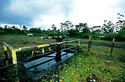 Deserted oil valves with disregard to the oil contamination or land