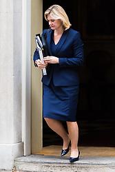 London, October 24 2017. Education Secretary Justine Greening leaves the UK cabinet meeting at Downing Street. © Paul Davey