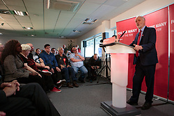 May 19, 2017 - Peterborough, Cambs, United Kingdom - Image ©Licensed to i-Images Picture Agency. 19/05/2017. Peterborough, United Kingdom. Jeremy Corbyn visits the ABAX Stadium on the Campaign Trail. ABAX Stadium. Picture by Terry Harris / i-Images (Credit Image: © Terry Harris/i-Images via ZUMA Press)