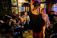 République d'Irlande, Dublin, musiciens au pub The Bankers Bar // Republic of Ireland, Dublin, musicians at The Bankers Bar