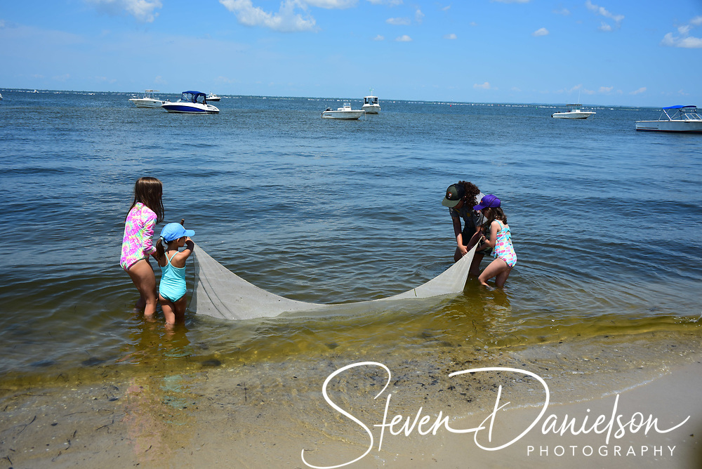 Seining fishing at Watch Hill, Fire Island, NY