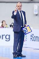 Gipuzkoa Basket coach Porfirio Fisac during Liga Endesa match between San Pablo Burgos and Gipuzkoa Basket at Coliseum Burgos in Burgos, Spain. December 30, 2017. (ALTERPHOTOS/Borja B.Hojas)
