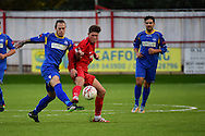 Carshalton Athletic Joshua Phillips (12) during the Ryman League - Div One South match between Carshalton Athletic and South Park FC at War Memorial Sports Ground, Carshalton, United Kingdom on 19 November 2016. Photo by Jon Bromley.