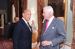 A party to promote the exclusive Puntacana Resort & Club - the Caribbean's Premier Golf & Beach Resort Destination, was held at Spencer House, London on 13th May 2010.<br /> <br /> Picture shows:- Left to right, OSCAR DE LA RENTA and RUPERT HAMBRO.