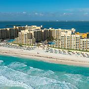 Aerial View of Royal Resorts. Quintana Roo, Mexico.