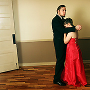 Jakob Showell and Kristine Moser dance during Central High School's prom at the Grand Ballroom, Apr. 28, 2007. THOMAS PATTERSON   Statesman Journal