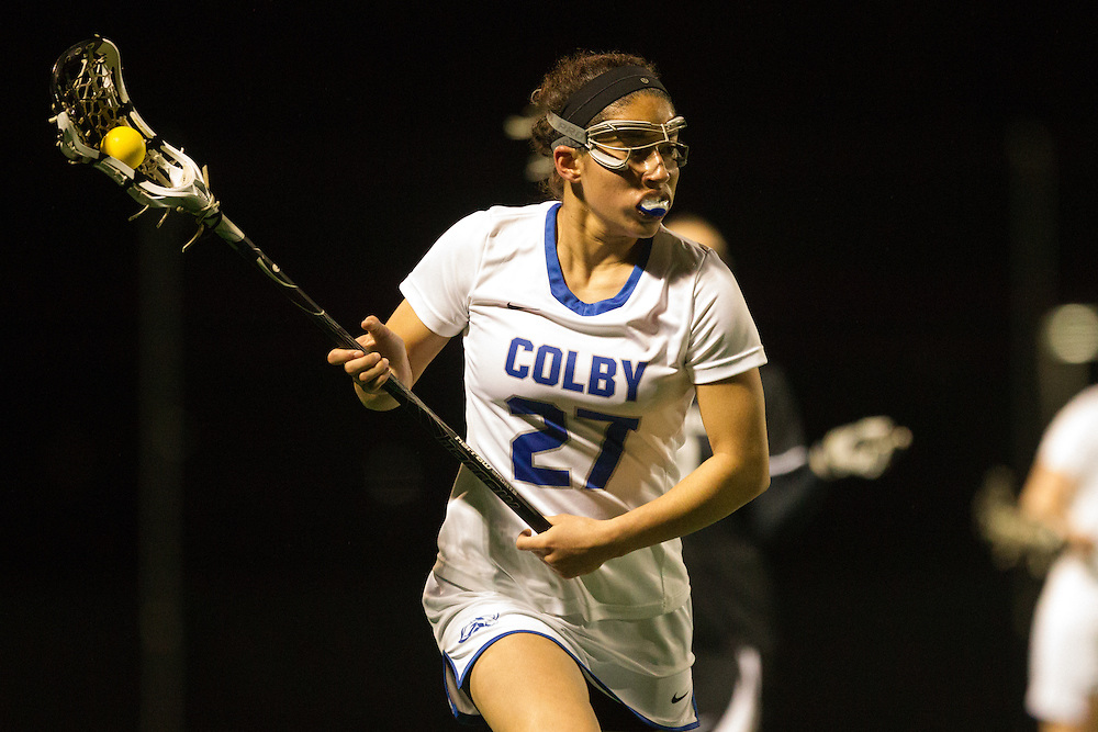 Brittany Chin of Colby College, during a NCAA Division III women's lacrosse game against at Bowdoin College on April 8, 2014 in Waterville, ME. (Dustin Satloff/Colby Athletics)