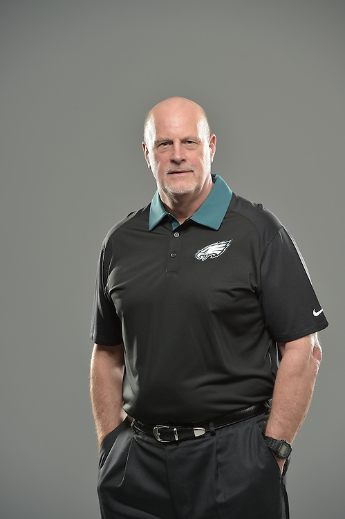 Ken Flajole of the Philadelphia Eagles poses for a portrait at NovaCare Complex on February 17, 2016 in Philadelphia, Pennsylvania. (Photo by Drew Hallowell/Philadelphia Eagles)