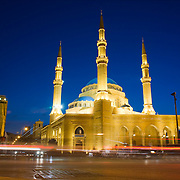 BEIRUT,LEBANON - JUNE 2009 : The Mohammed Al Amin Mosque at  Martyr's Square. Beirut. Lebanon. 06/13/2009 ( Photo by Jordi Cami )