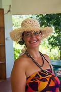 Polynesian woman, black pearl, necklace, Rarotonga, Cook Islands, South Pacific