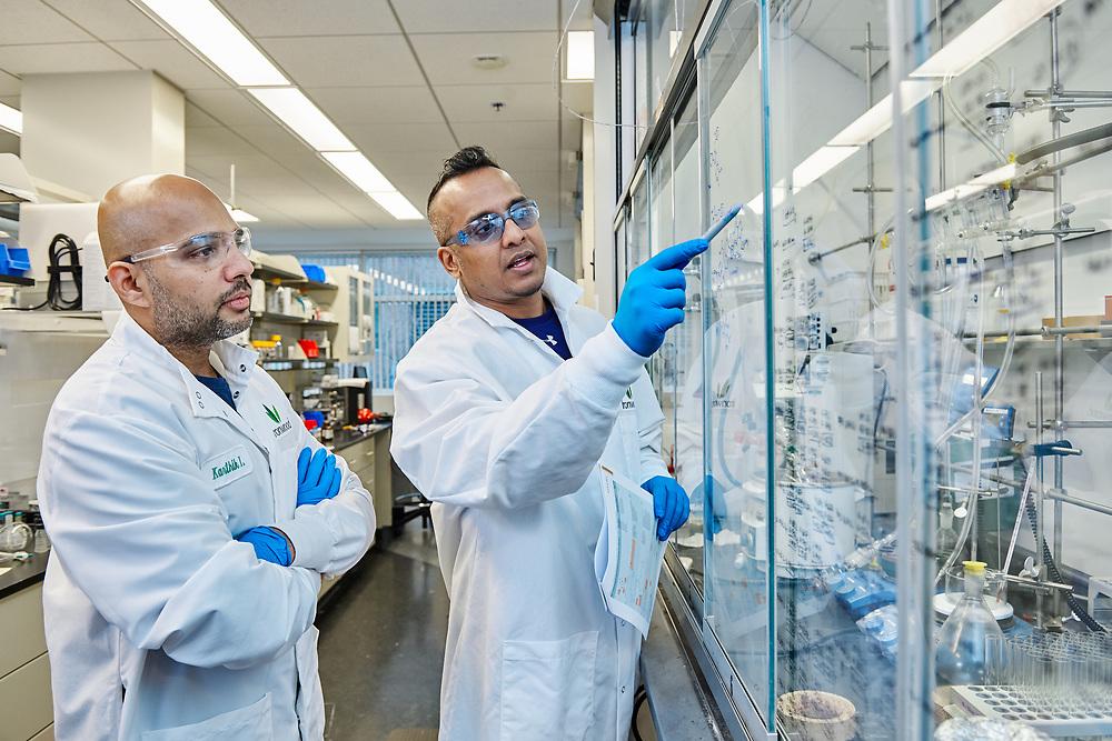 Ironwood Biotech lab workers.