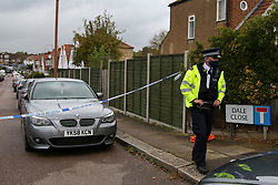 © Licensed to London News Pictures. 23/09/2020. London, UK. The scene on Dale Close in Barnet, north London, where around 10 police officers were injured in an acid attack after a drugs raid. Around 1.50pm this afternoon,  the officers attended an industrial area to executed a drugs warrant as part of a proactive operation and were attacked with acid. Photo credit: Dinendra Haria/LNP