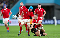 Wales' Gareth Davies in action during the 2019 Rugby World Cup bronze final match at Tokyo Stadium.