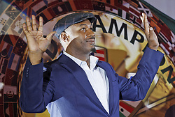 October 2, 2018 - Kiev, Ukraine - Former Boxing Champion LENNOX LEWIS gestures during an authographs session for supporters at the 56th World Boxing Convention in Kiev, Ukraine, on 2 October 2018.The WBC 56th congress in which take part boxing legends Evander Holyfield,Lennox Lewis, Eric Morales and about 700 participants from 160 countries runs in Kiev from from September 30 to October 5. (Credit Image: © Serg Glovny/ZUMA Wire)