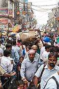 Crowds in Sadar Bazaar, Old Delhi, India