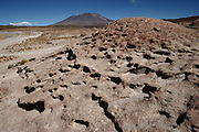 Wind erosion has left its mark on the Bolivian Altiplano with some wonderful rock patterns