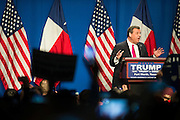 Governor Chris Christie speaks during a campaign rally for Donald Trump on February 26, 2016 in Fort Worth, Texas.  (Cooper Neill for The New York Times)