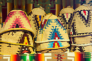 """Yakama National Cultural Center Gift Shop features hand made Yakama handwork.  Hand-made, traditional hats called, """"palaapa."""""""