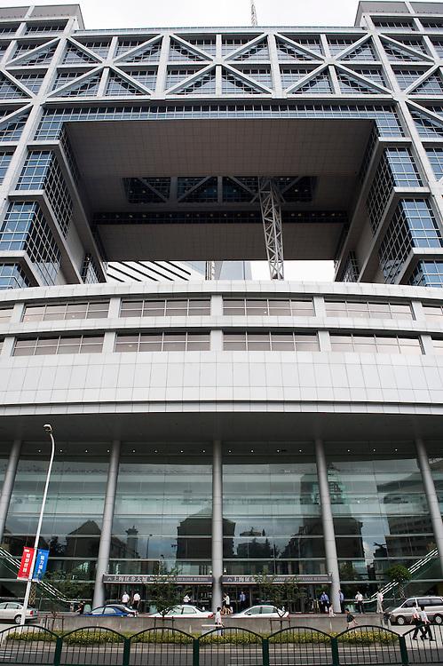 China, Shanghai, 1 sept 2010.Financiele centrum van Shanghai. Shanghai aandelenbeurs..Foto (c) Michiel Wijnbergh..Shanghai Stockexchange.