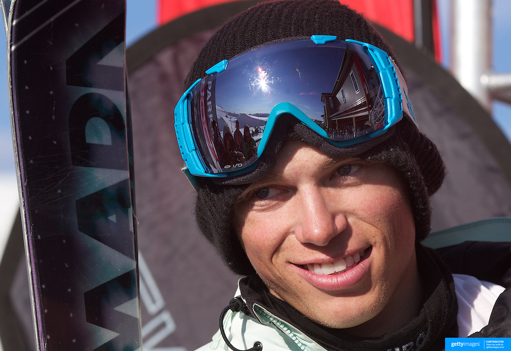 Gus Kenworthy, USA, third place winner in the Men's Halfpipe Finals during The North Face Freeski Open at Snow Park, Wanaka, New Zealand, 3rd September 2011. Photo Tim Clayton...