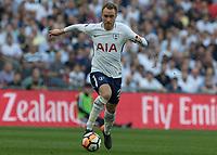 Football - 2017 / 2018 FA Cup - Semi-Final: Manchester United vs. Tottenham Hotspur<br /> <br /> Christian Eriksen (Tottenham FC) drives forward as his tam search for an equaliser at Wembley Stadium.<br /> <br /> COLORSPORT/DANIEL BEARHAM