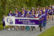 Pine Bush, New York - People from the Pine Bush community participate in the Relay for Life on Saturday, June 7, 2014. The Relay for Life is the American Cancer Society's largest fundraising event. ©Tom Bushey / The Image Works