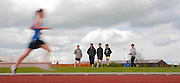 Meath Athletics track & field championships at Claremount stadium 16th May 2010<br /> Spectators look on at the ladies 3000m final Meath Athletics track & field championships<br /> Photo: David Mullen / www.cyberimages.net