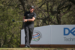 March 21, 2018 - Austin, TX, U.S. - AUSTIN, TX - MARCH 21: Phil Mickelson (USA) watches his shot from the 12th tee during the First Round of the WGC-Dell Technologies Match Play on March 21, 2018 at Austin Country Club in Austin, TX. (Photo by George Walker/Icon Sportswire) (Credit Image: © George Walker/Icon SMI via ZUMA Press)