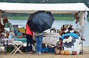 Nederland, Beek, 26-6-2016Ibiza at the Lake, een zomerevenement voor lokale standhouders aan het Wylermeer, water, recreatieplas . Verregend door de vele regenbuien . Het viel in het waterFOTO: FLIP FRANSSEN/ HH