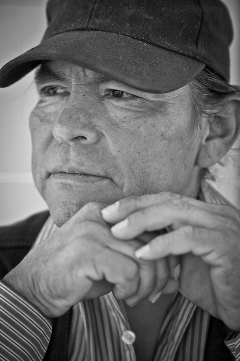 Hopi/Navajo American Indian, Daryl Humetewa, Cameron, AZ.  Photographed during the Race Across America