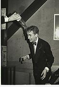 Bill Mackesy, baptised. Assassin's dinner. Cherwell Boathouse. Oxford, 1980