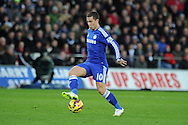 Eden Hazard of Chelsea in action. .Barclays Premier League match, Swansea city v Chelsea at the Liberty Stadium in Swansea, South Wales on Saturday 17th Jan 2015.<br /> pic by Andrew Orchard, Andrew Orchard sports photography.