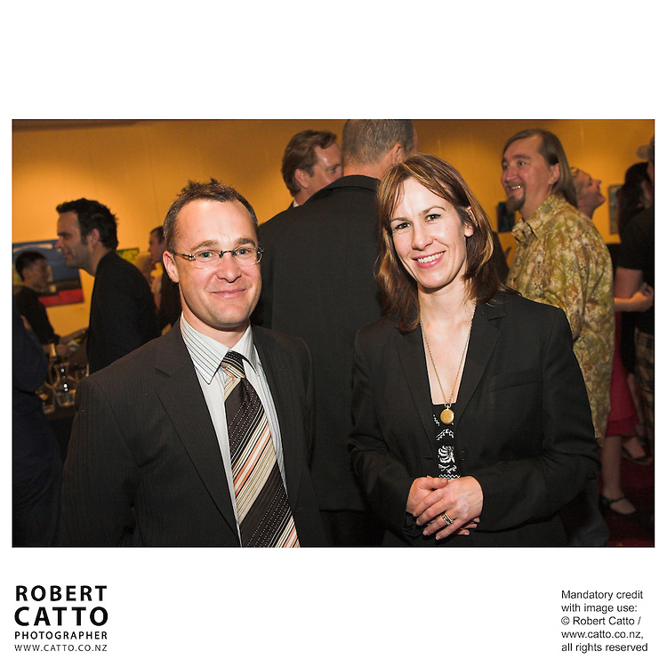 Simon Bowden;Trish Oakley at the Arts Foundation of New Zealand New Generation Awards at the St James Theatre, Wellington, New Zealand.<br />