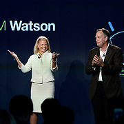 On Weds., October 8, 2014, in New York City, IBM CEO Ginni Rometty and Senior Vice President Mike Rhodin opens IBM's new global Watson headquarters at 51 Astor Place in Silicon Alley, the home for next generation computing systems that learn. (Feature Photo Service)