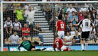 Photo: Steve Bond/Richard Lane Photography. Derby County v Sheffield United. Coca-Cola Championship. 13/09/2008. Rob Hulse (r) scores
