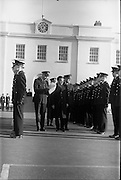 20/12/1963<br /> 12/23/1963<br /> 20 December 1963<br /> Last passing out parade of Gardai at the Garda Depot Phoenix Park, Dublin. the Minister for Justice Mr. Charles Haughey inspecting the new recruits.