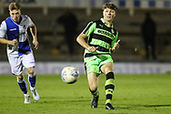 Forest Green Rovers Jordan Stevens(8) passes the ball during the The FA Youth Cup match between Bristol Rovers and Forest Green Rovers at the Memorial Stadium, Bristol, England on 2 November 2017. Photo by Shane Healey.